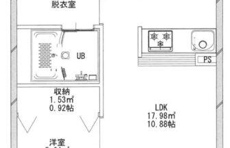 あさグラ高崎Ⅰ-02号室 平面図