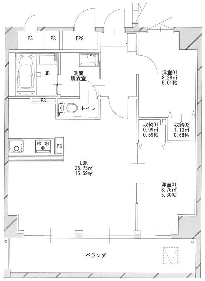 あさひグランレジデンシア高崎Ⅰ-05平面図