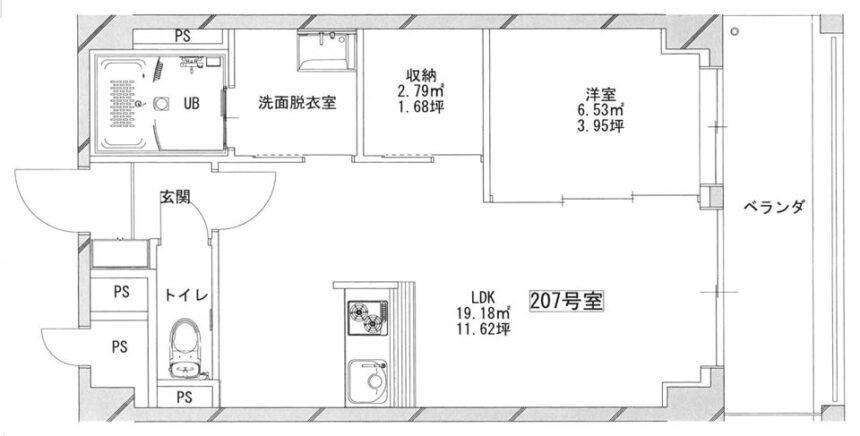 あさグラ高崎Ⅰ-07 平面図