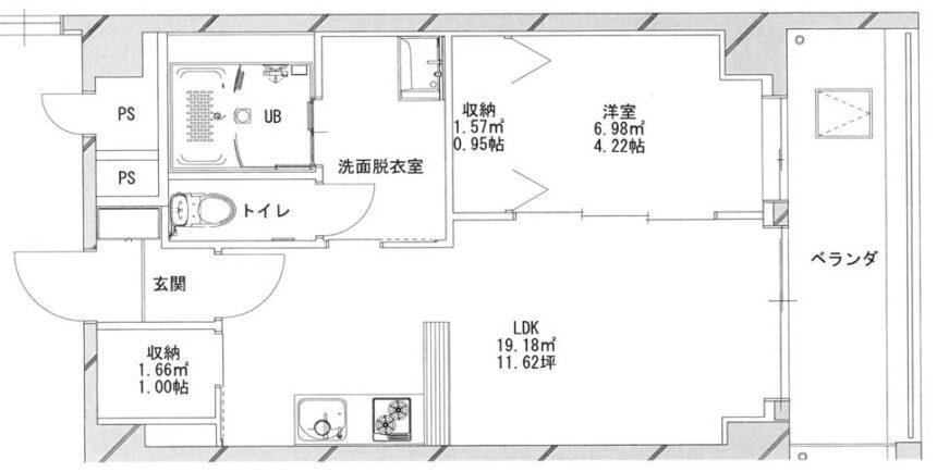 あさひグランレジデンシア高崎Ⅰ210平面図